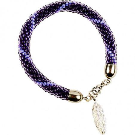 Bransoletka głęboki fiolet przeplatany głębią ciemności - fioletowa impresja