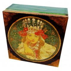 Herbaciarka - pudełko na herbatę dekupaż