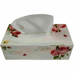 Pudełko na chusteczki w róże