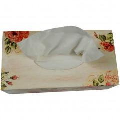 Pudełko na chusteczki - chustecznik dekupaż