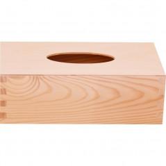 pudełko na chusteczki, drewniane