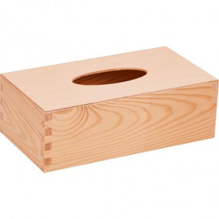 drewniane pudełko na chusteczki do decoupage
