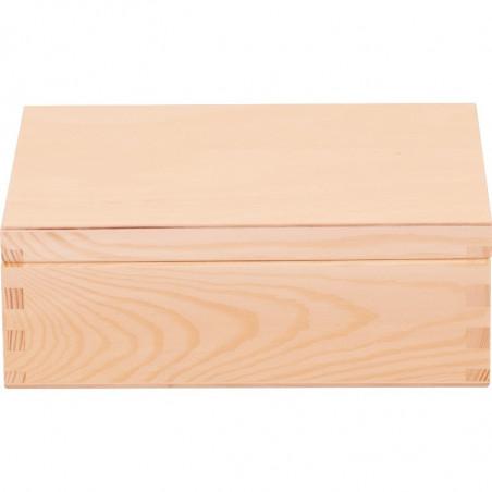 drewniane pudełko na herbatę do ozdobienia decoupage na prezent