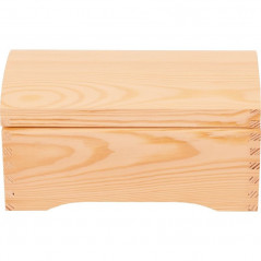 drewniany kuferek do decoupage na prezent