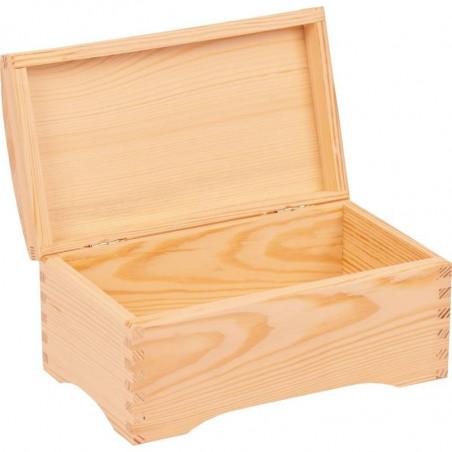 drewniany kuferek średni na prezent do ozdobienia we własnym stylu