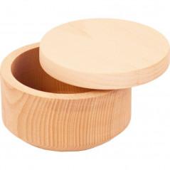 ozdobne drewniane owalne pudełko na prezent we własnym stylu