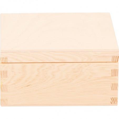 drewniane pudełko na herbatę cztery przegródki na prezent