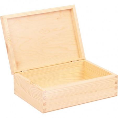wewnątrz drewniana szkatułka do ozdobienia decoupage lub grawer