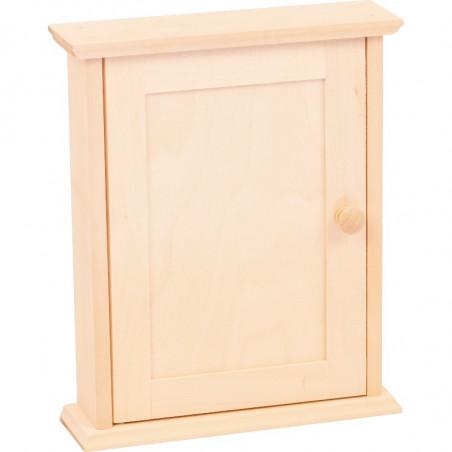 drewniana szafka na klucze na prezent ozdobiona we własnym stylu
