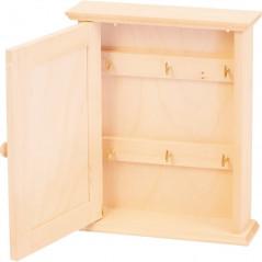wewnątrz drewniana szafka na klucze na prezent ozdobiona we własnym stylu