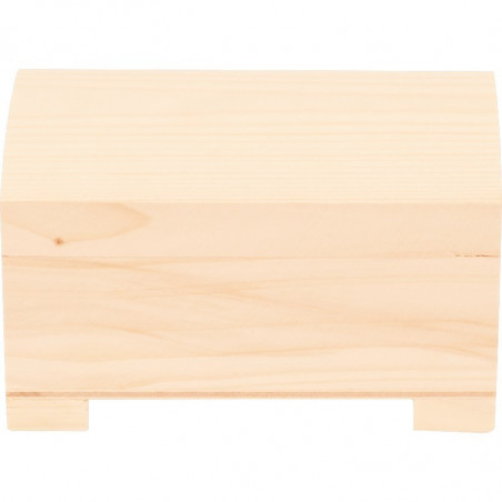 drewniany kuferek do ozdobienia metodą decoupage własny wzór