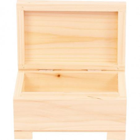 wewnątrz kuferek drewniany do decoupage