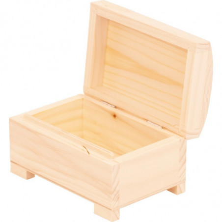 wewnątrz drewniany kuferek na biżuterią do ozdobienia