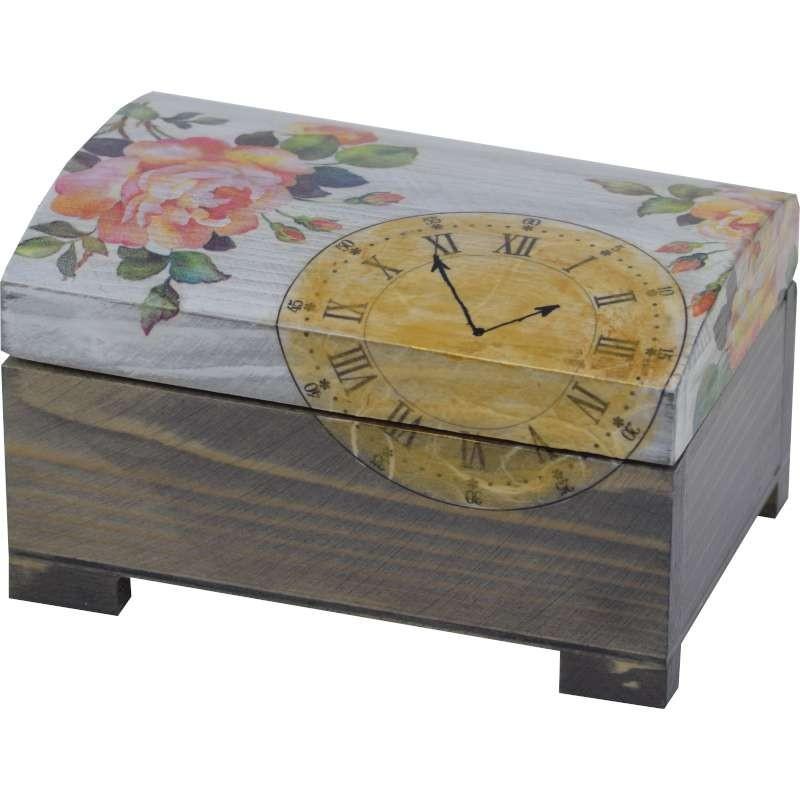 szkatułka na prezent z motywem zegara