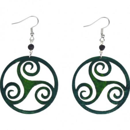 Kolczyki handmade zielona fantazja