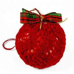 Bauble in red wool sweater