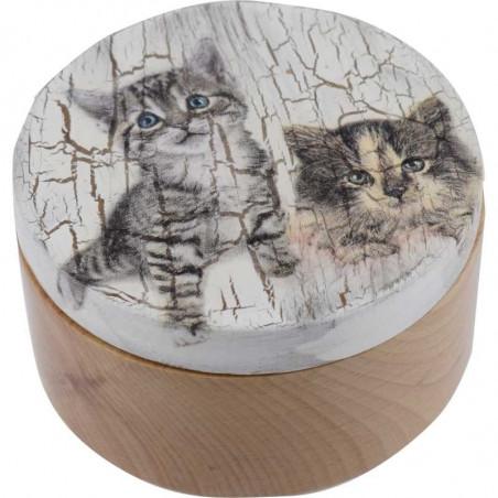 Black and White cats pudełko decoupage