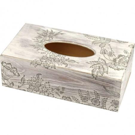 drewniane pudełko na chusteczki lub jednorazowe rękawiczki