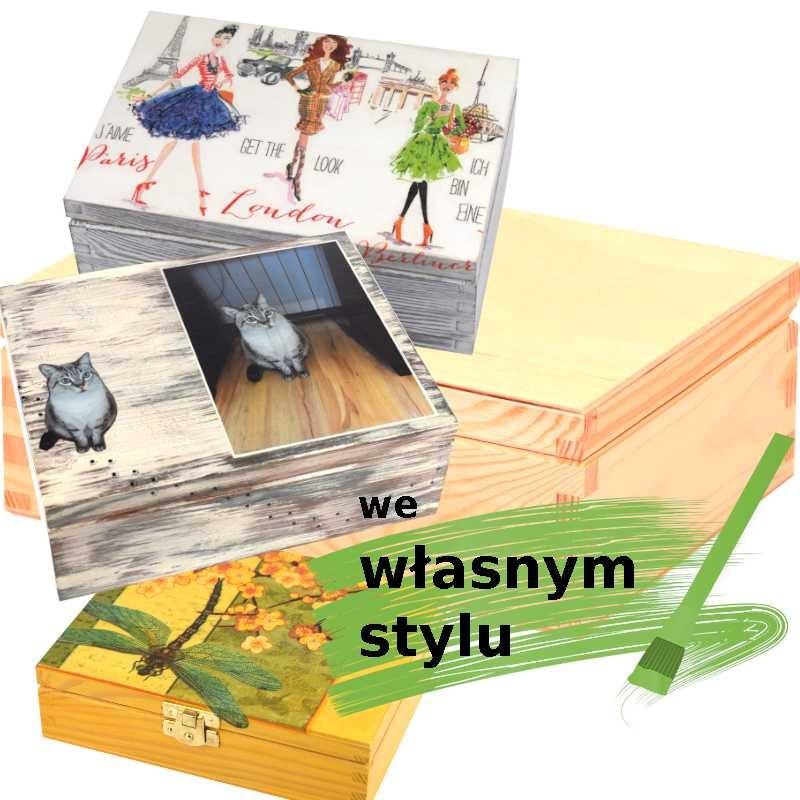 personalizowana szkatułka na prezent we własnym stylu