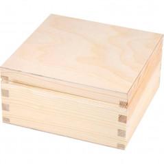 drewniane pudełko na herbatę cztery przegródki ozdobione w e własnym stylu na prezent