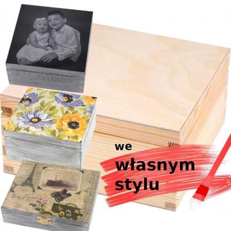 drewniana herbaciarka personalizowana we własnym stylu