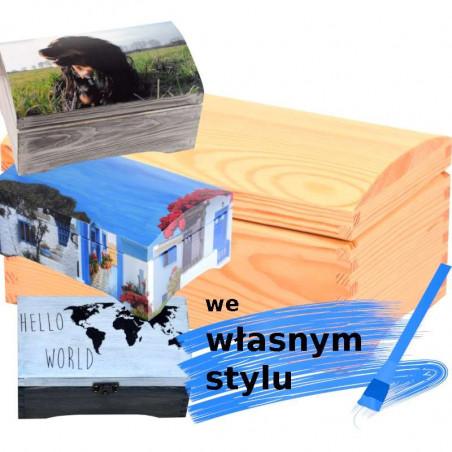 personalizowany drewniany kuferek na prezent we własnym stylu