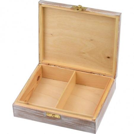 szkatułka dwie przegródki na biżuterię lub karty, ozdobne pudełko na biżuterię