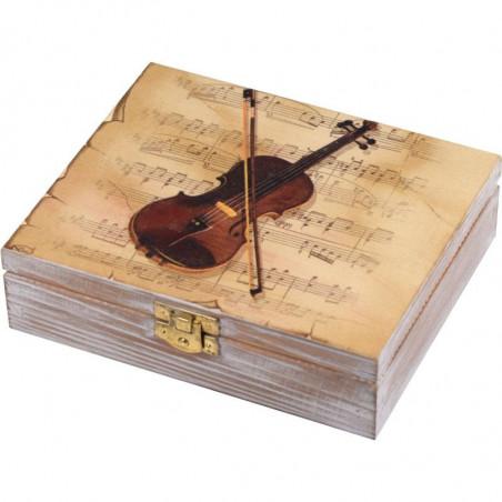 Ozdobna drewniana szkatułka na biżuterię lub karty