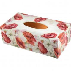 Drewniane pudełko na chusteczki, chustecznik lub ozdobne pudełko na jednorazowe rękawiczki