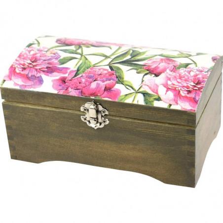 szkatułka, kuferek na prezent kwiaty Piwonii (peonii)