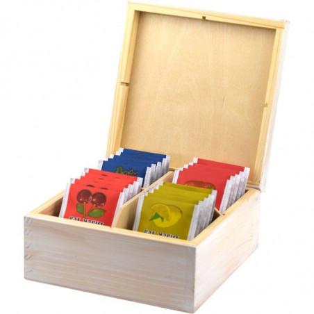 herbaciarka, ozdobne drewniane pudełko na herbatę