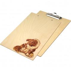 Ozdobny clipboard, podstawka z pieskiem i kotkiem