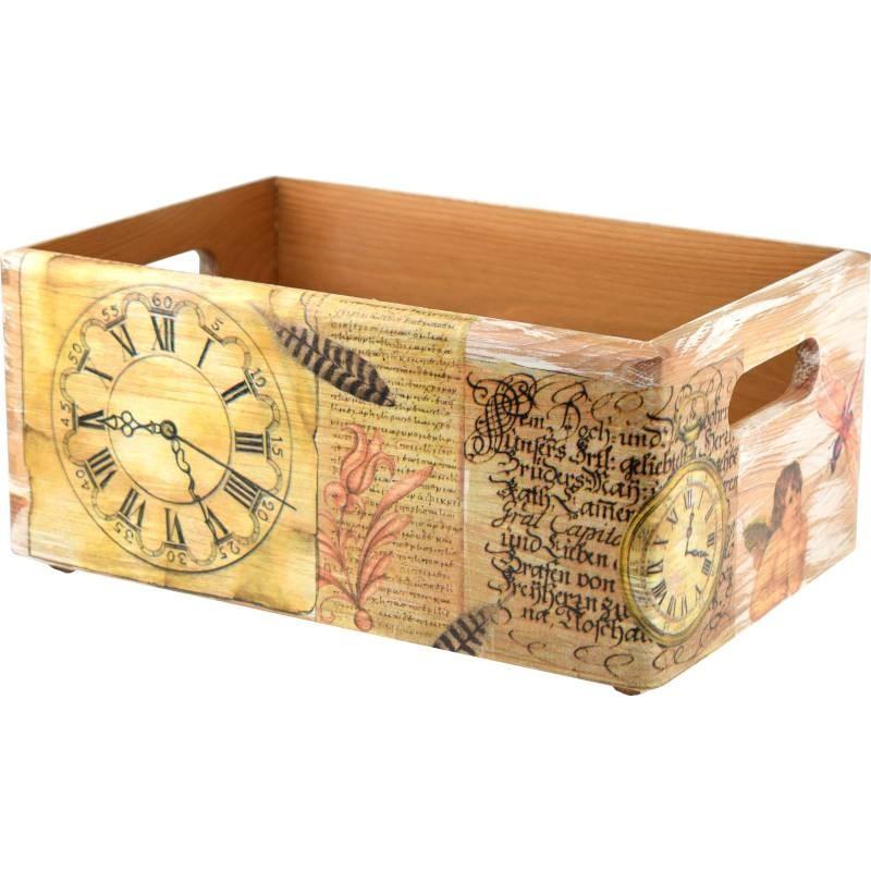 drewniana skrzynka prezenty madegro