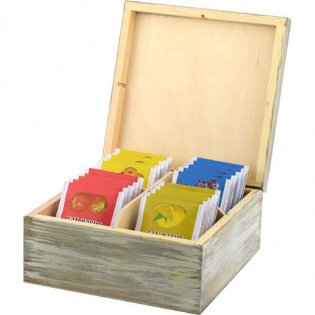 Pięknie ozdobione pudełko na herbatę paris