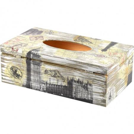 Drewniane pudełko na chusteczki, chustecznik lub ozdobne pudełko na rękawiczki podróże