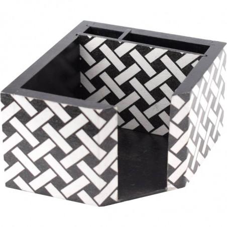 Ozdobny piórnik i pudełko na kartki, wykonana metodą decoupage na biurko do domu i biura