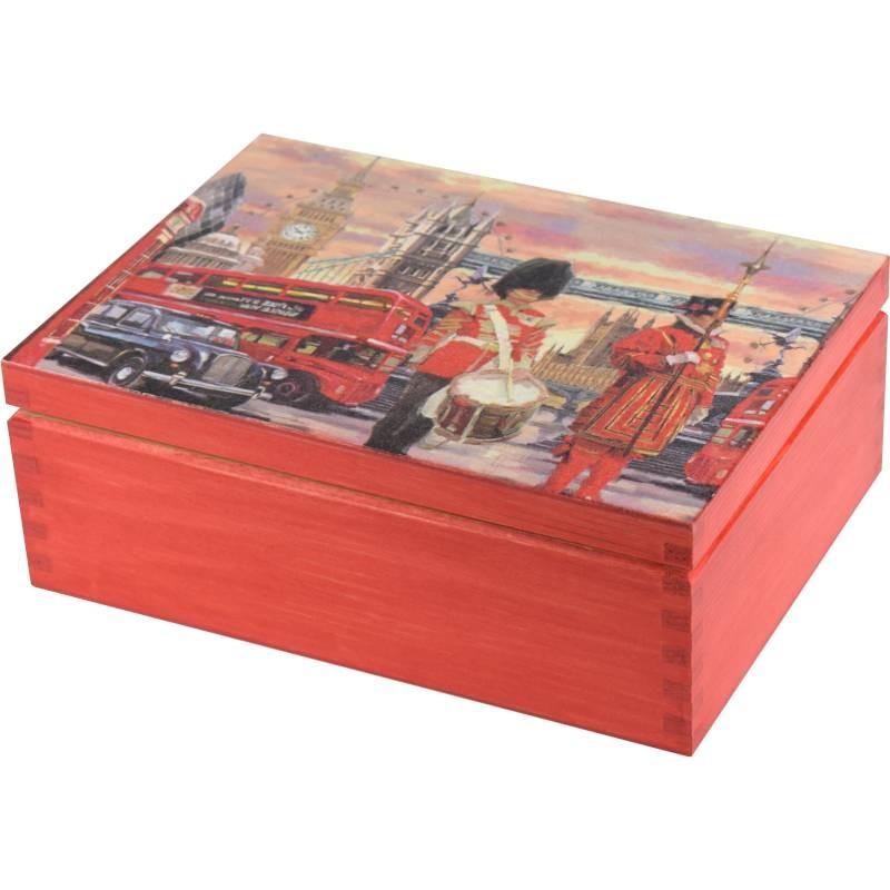 Pięknie ozdobione pudełko na herbatę, biżuterie i inne cenne rzeczy