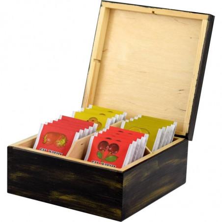 Pięknie ozdobione pudełko na herbatę do domu i biura na prezent