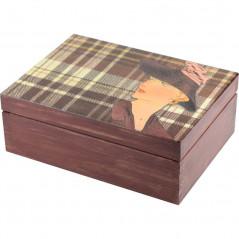 drewniana ozdobna szkatułka na biżuterię na prezent
