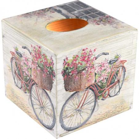 Pięknie ozdobione pudełko na chusteczki