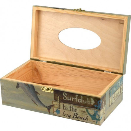 Wooden handkerchief box, handkerchief or decorative glove box