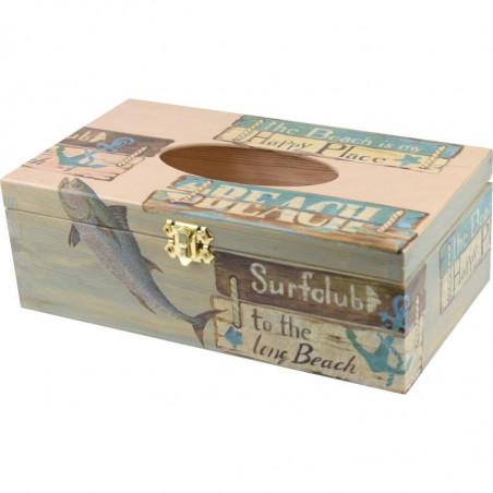 Handkerchief, rectangular wooden handkerchief box, decorated with