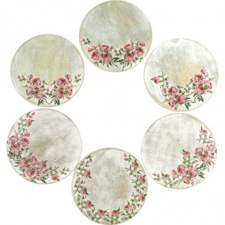 6 (six) round rose gift holders