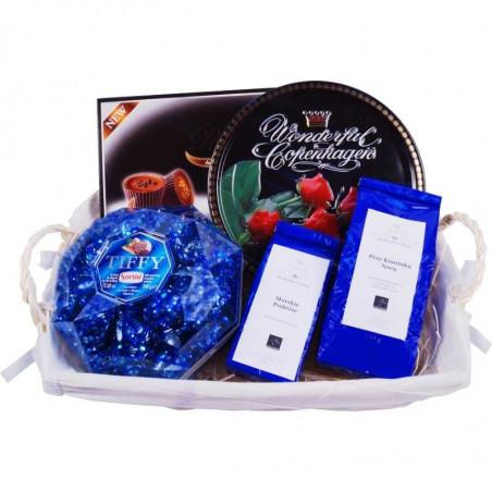 Kosz prezentowy Niebieska rozkosz