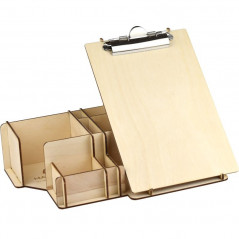 large desk organizer with clip pad