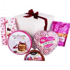 Słodki zestaw prezentowy - Milion różowych serduszek
