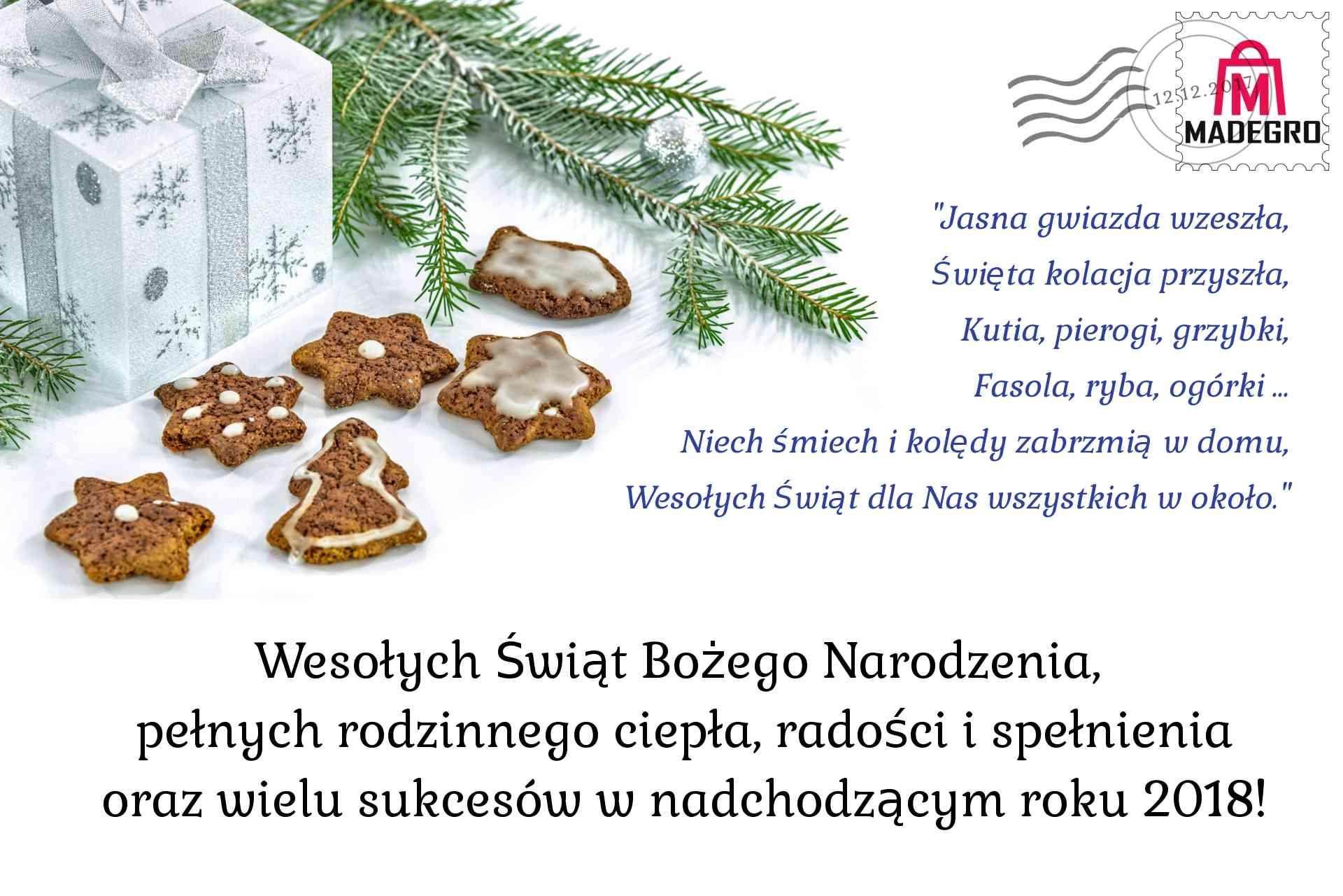 Wesołych Świąt - Madegro.pl